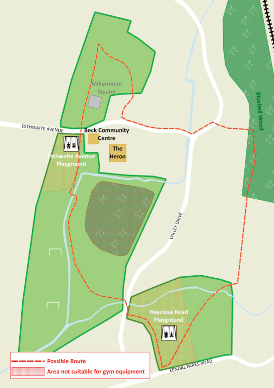 Map of Heron Hill